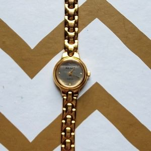 Monet Vintage Gold Tone Watch